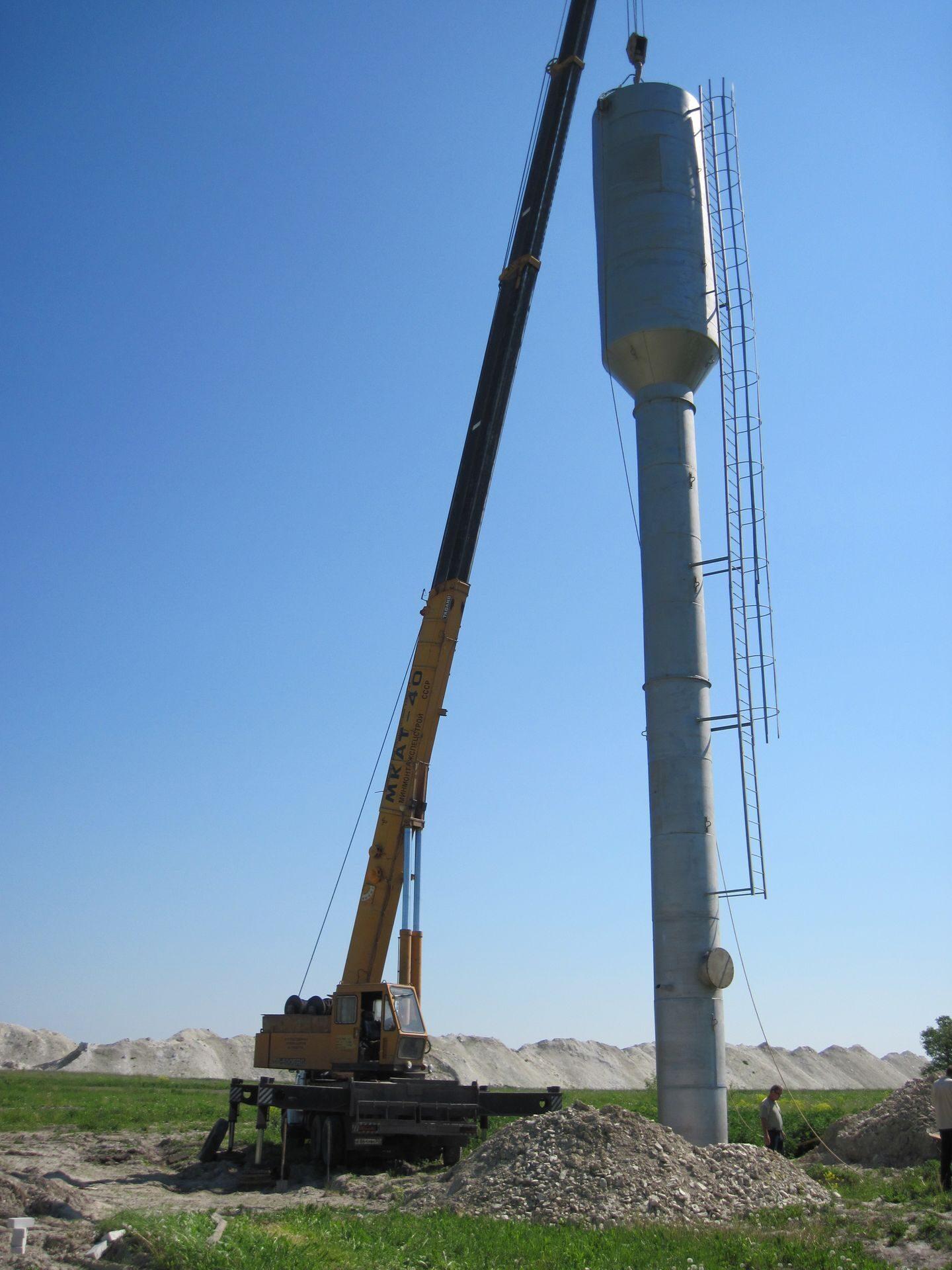 Vмонтаж водонапорной башни